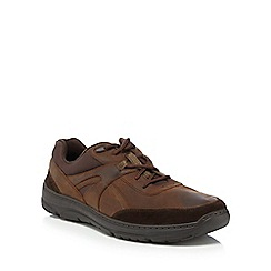 Maine New England - Chocolate brown leather 'Belay' lace up shoes