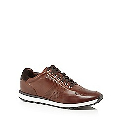J by Jasper Conran - Tan leather 'Trento' trainers