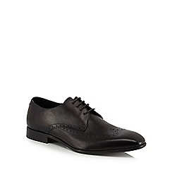 Hammond & Co. by Patrick Grant - Black leather 'Whitby Safiano' Oxford shoes