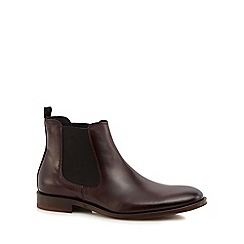 Hammond & Co. by Patrick Grant - Maroon leather 'Coast' Chelsea boots