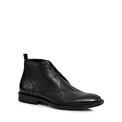 Hammond & Co. by Patrick Grant - Black leather 'Humber' chukka boots