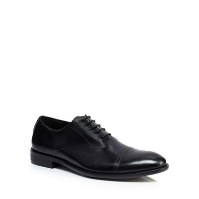 Jeff Banks - Black leather 'Garrett' Oxford shoes
