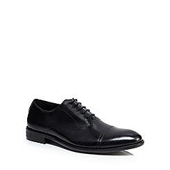 Jeff Banks - Black leather 'Garrett' Oxford shoes