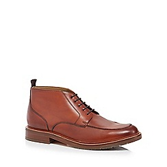 J by Jasper Conran - Brown leather 'Verona' chukka boots