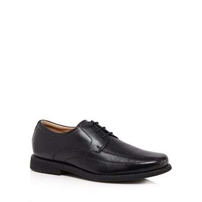 Henley Comfort - Black leather 'Coogan' lace up shoes