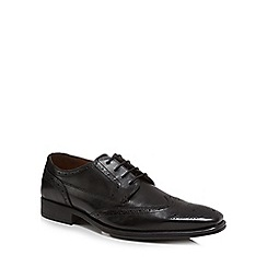 Jeff Banks - Black leather 'Kennet' brogues