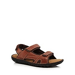 Mantaray - Tan leather 'Caspian' sandals