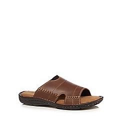 Mantaray - Tan leather mule sandals