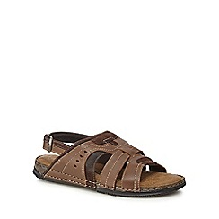 Mantaray - tan leather 'Vilamoura' sandals
