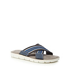 Mantaray - Blue 'Corfu' slip-on sandals