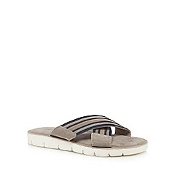 Mantaray - Grey 'Corfu' slip-on sandals