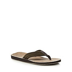 Mantaray - Khaki 'Faliraki' flip flops