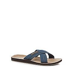 Mantaray - Blue 'Costa Teguise' slip-on sandals