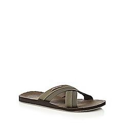 Mantaray - Khaki 'Costa Teguise' slip-on sandals