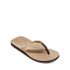 Mantaray - Dark cream 'Faliraki' flip flops