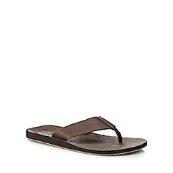 Mantaray - Brown 'Lanzarote' flip flops
