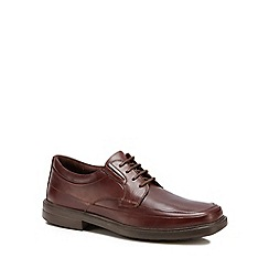 Hush Puppies - Brown leather 'Prinze Hopper' lace-up shoes