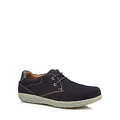 Hush Puppies - Navy suede lace up shoes