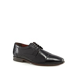 Hush Puppies - Black leather 'Bertrand' Derby shoes