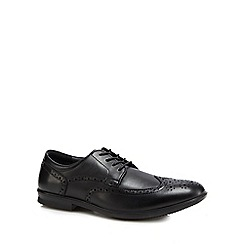 Hush Puppies - Black leather 'Cane' brogues