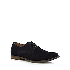 Hush Puppies - Navy suede 'Sean' Derby shoes