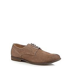 Hush Puppies - Brown suede 'Sean' lace up shoes