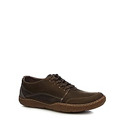 Hush Puppies - Dark brown 'Sway' lace up shoes