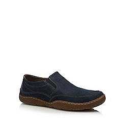 Hush Puppies - Navy 'Sway' slip-on shoes
