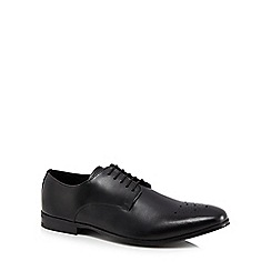 Red Herring - Black leather 'Lille' Derby shoes