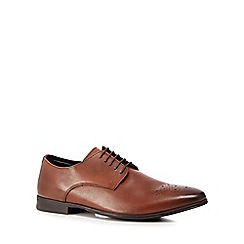 Red Herring - Tan leather 'Lille' Derby shoes