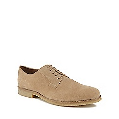 Red Herring - Dark cream suede 'Marseille' Derby shoes