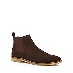 Red Herring - Brown suede 'Arcahon' Chelsea boots