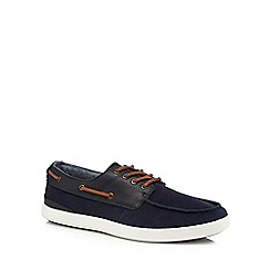 Red Herring - Navy boat shoes