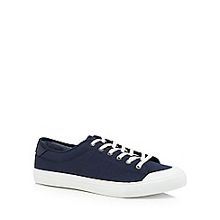 Red Herring - Navy canvas 'Lyon' trainers