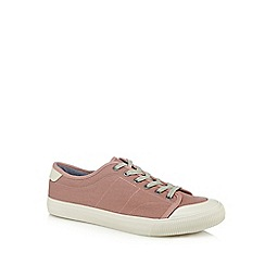Red Herring - Pink canvas 'Lyon' trainers