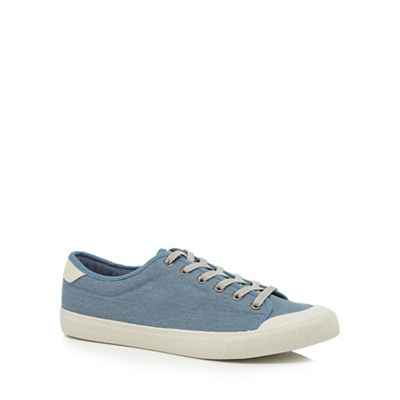 Red Herring - Blue canvas 'Lyon' trainers