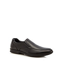 Hush Puppies - Black leather 'Cane' slip-on shoes