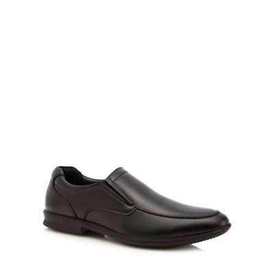 Black leather 'Cane' slip-on shoes