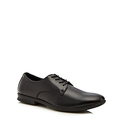 Hush Puppies - Black leather 'Cane' Oxford shoes