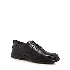 Hush Puppies - Black leather 'Prinze Hopper' lace-up shoes