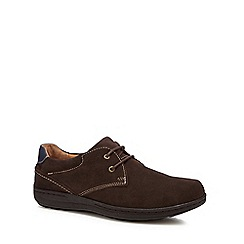 Hush Puppies - Dark brown suede lace-up shoes