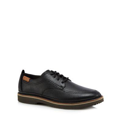 Hush Puppies - Black leather 'Kurt Bernard' Derby shoes