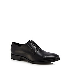 J by Jasper Conran - Black leather 'Veneto' Derby shoes