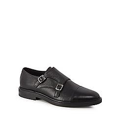 Hammond & Co. by Patrick Grant - Black 'Walton' leather monk strap shoes