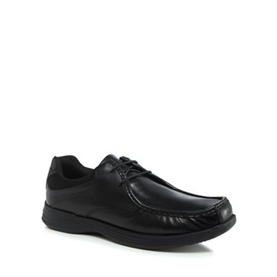 Red Herring - Black leather 'Zammo' lace up shoes