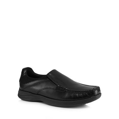 Red Herring - Black leather 'Tucker' slip on shoes
