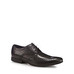 Red Herring - Black 'Ziggy' brogue detail Derby shoes