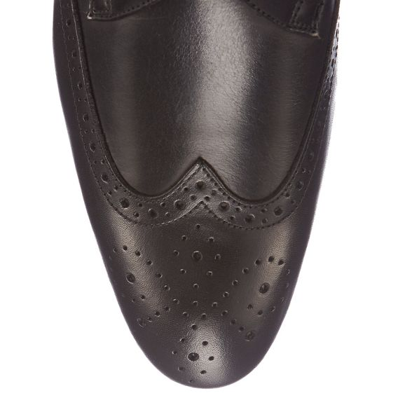 Derby Red 'Ziggy' Herring Black shoes brogue detail q6zXp6n