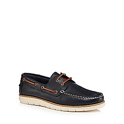 RJR.John Rocha - Navy leather 'Hawthorn' boat shoes
