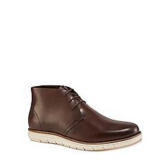 RJR.John Rocha - Chocolate brown leather 'Tarragon' chukka boots